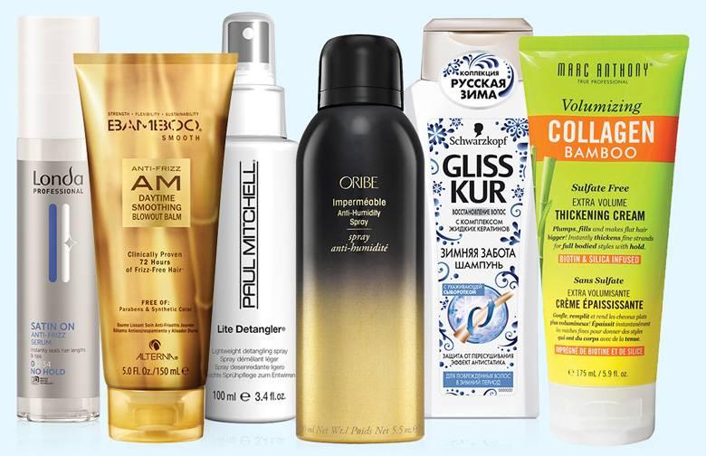 7 незаменимых средств для волос с защитой от влаги и эффектом антистатика