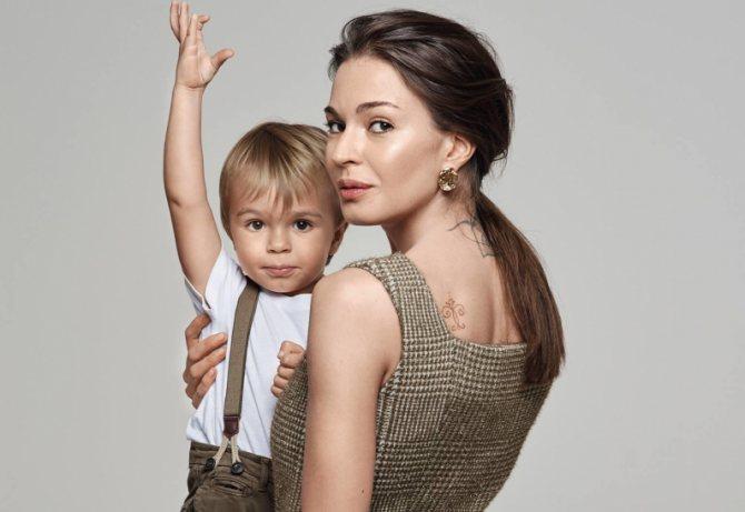 Агния и ее сын Федор