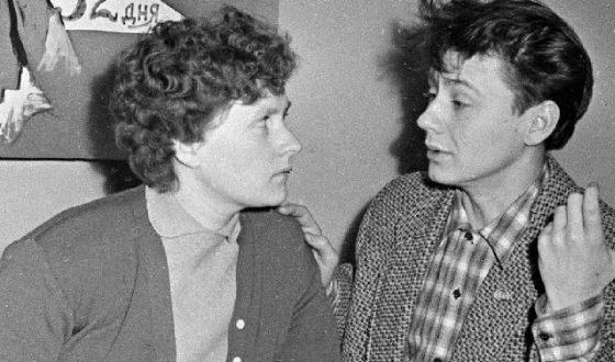 Актеры театра Современник Людмила Иванова и Олег Табаков (1958 год)