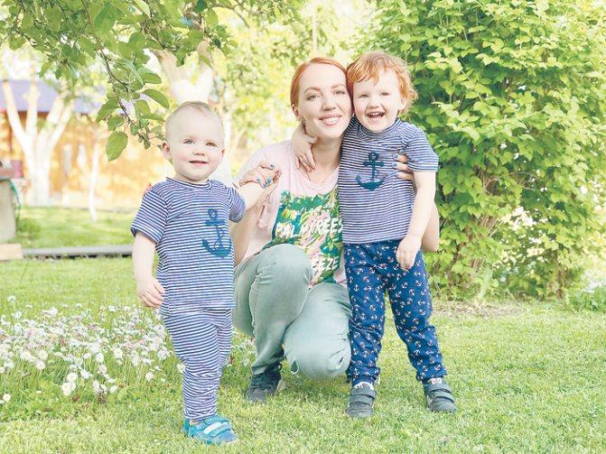 Актриса воспитывает двоих сыновей: трехлетнего Льва и Андрея, которому исполнился год и четыре месяца