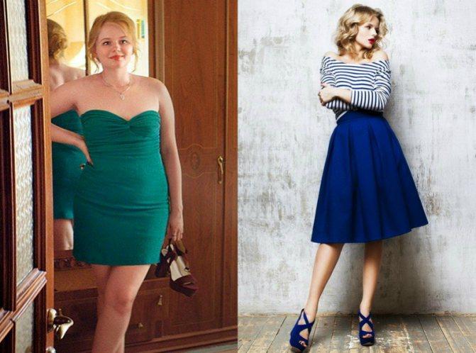 Александра Бортич до и после
