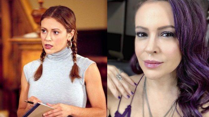 Алисса Милано – до и после
