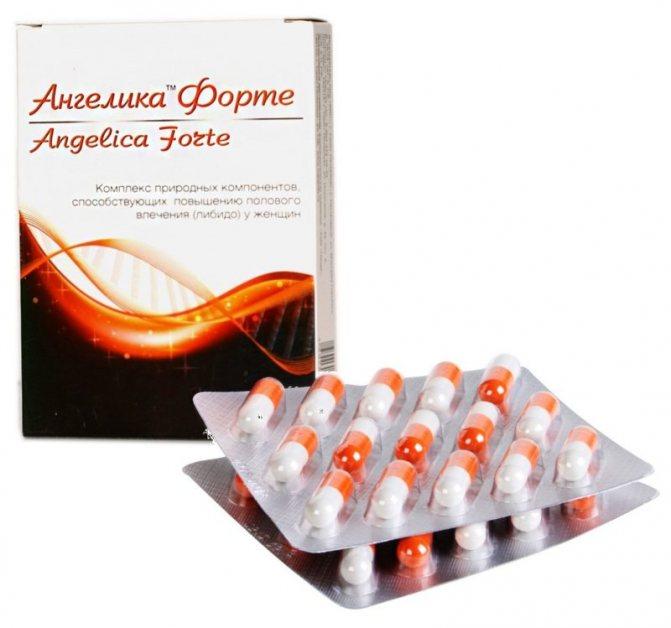 Ангелика Фроте - это БАД, направленный на повышение полового влечения у женщины, обеспечение быстрого и эффектного оргазма