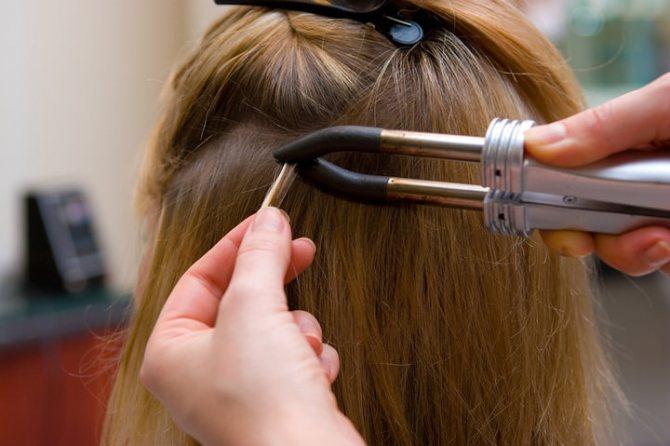 Английское наращивание волос