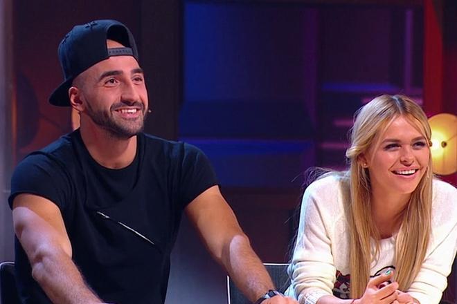 Анна Хилькевич и Артур Волков в 2020 году в шоу «Где логика?»