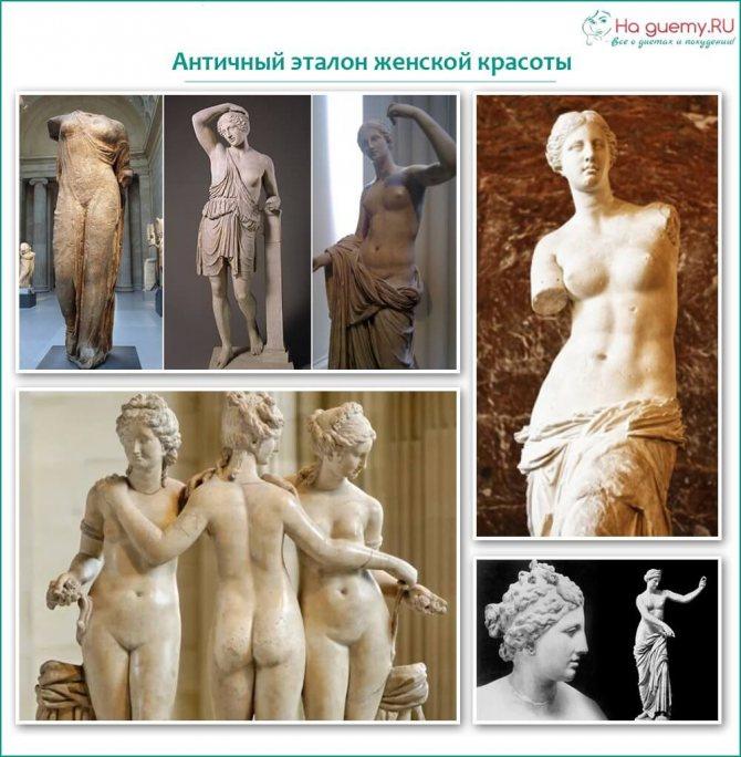 Античный эталон женской красоты