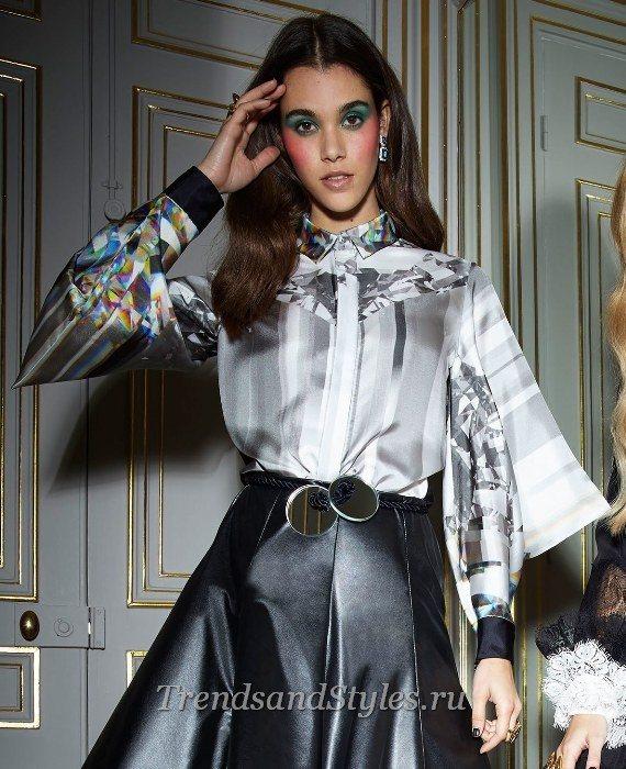 атласные блузки женские стильные фото 2020 года