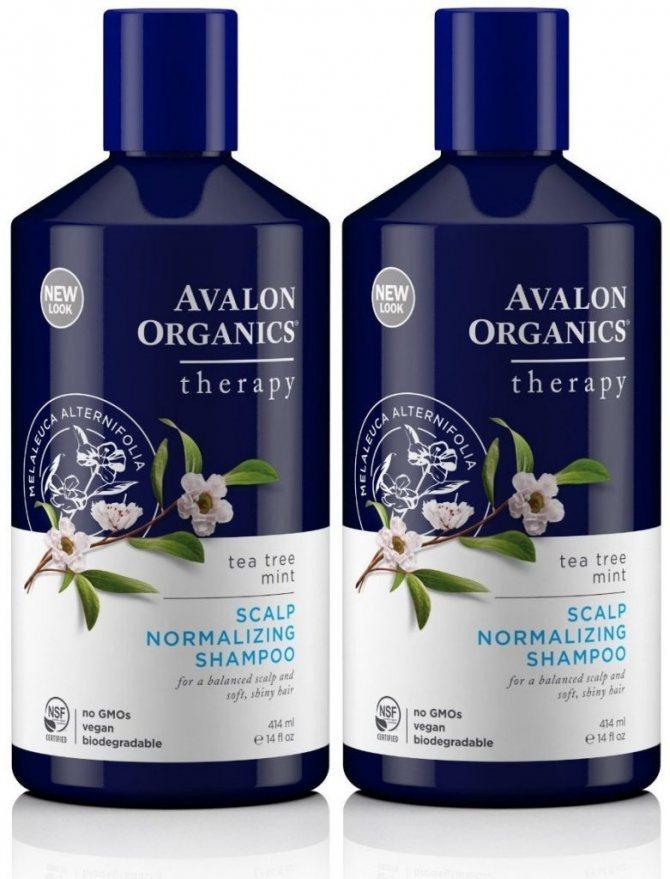 Avalon Organics шампунь Scalp Normalizing Therapy Tea Tree Mint