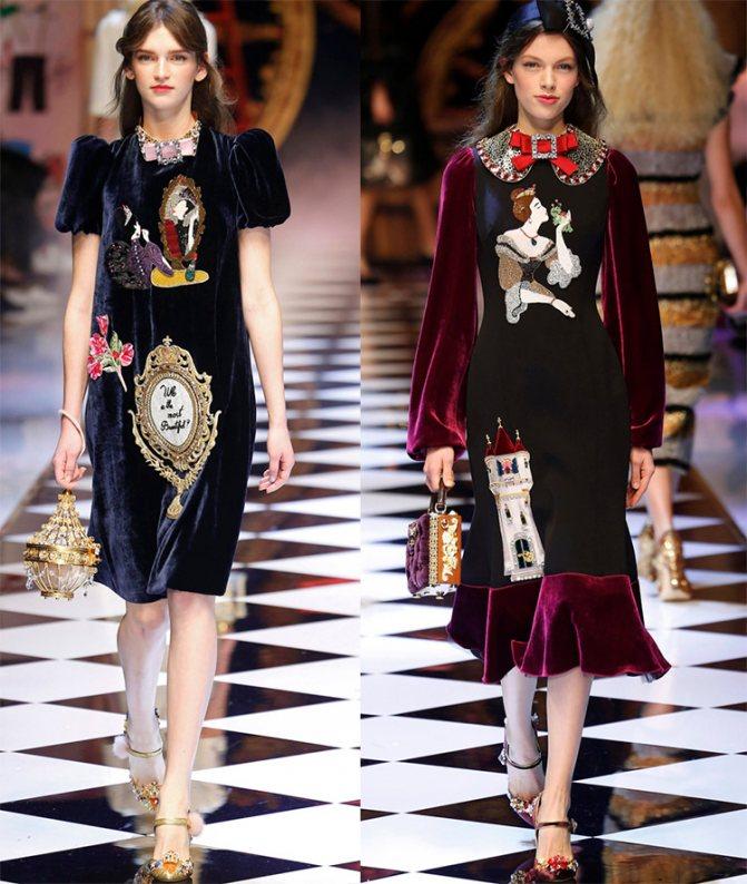Бархатные платья Dolce