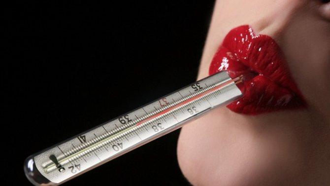 Базальная температура - во рту измеряется 8 минут ртутным градусником