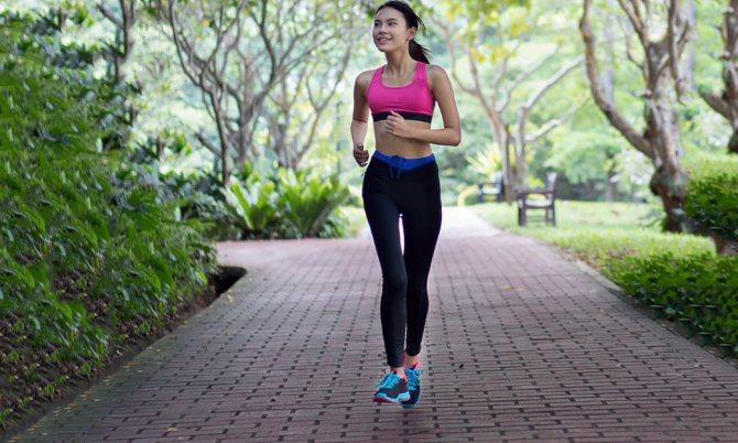 Бег в теплое время года для похудения