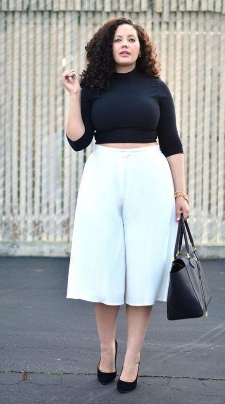 белые брюки для полных женщин