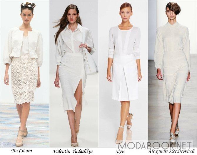 Белый цвет в летней моде 2014 года