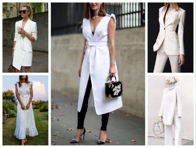 Белый цвет в одежде, фото № 6