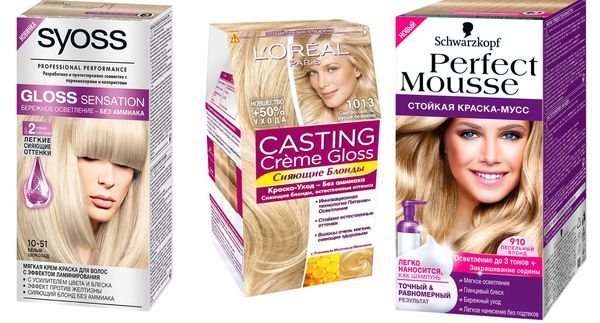 безаммиачные краски блонд