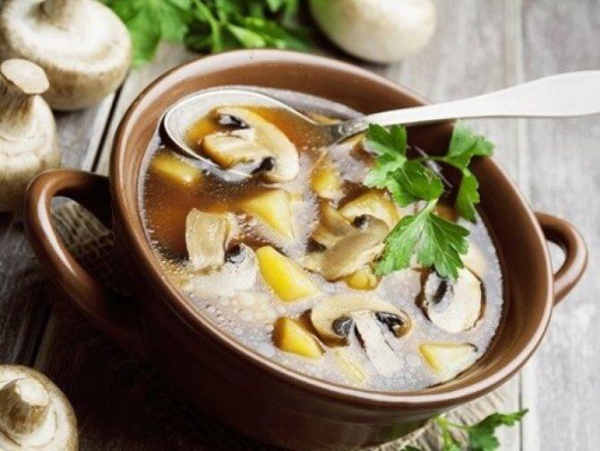 Низкоуглеводная диета грибной суп из