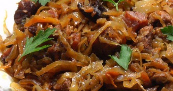 Бигус из свежей капусты — любимое блюдо славян