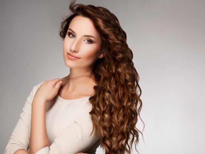 Биозавивка волос крупные локоны на длинные