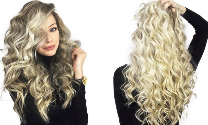 Биозавивка волос крупный локон