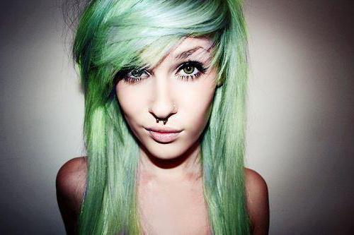 бирюзовый цвет волос