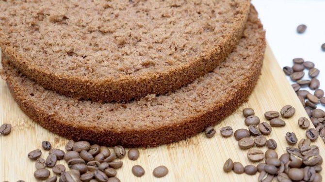 Бисквит для тирамису - рецепт кофейный