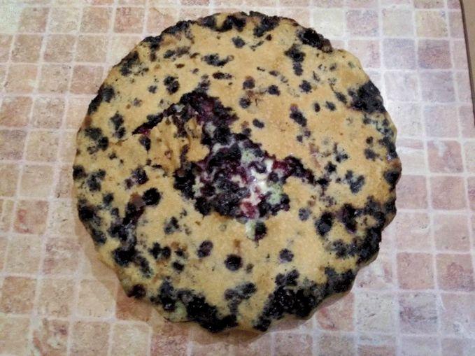 Бисквит для тирамису - рецепт с ягодами черники