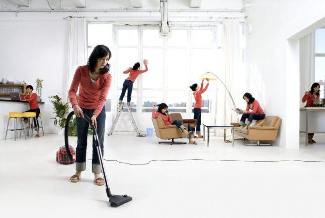 Благодаря технике - многозадачность при уборке реальна!