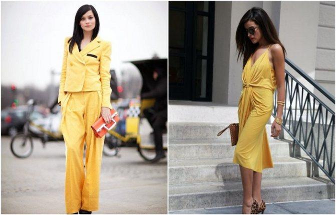 Бледно-желтый в одежде - отличное полотно для экспериментов
