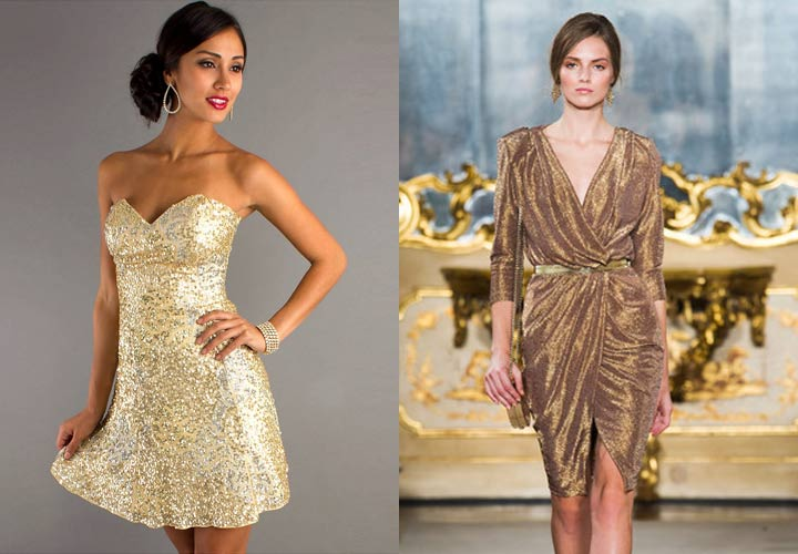 Блестящее новогоднее платье на 2019 год