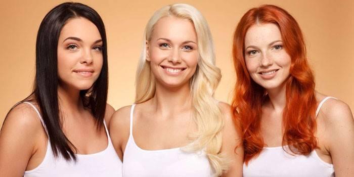 Блондинка, брюнетка и рыжая