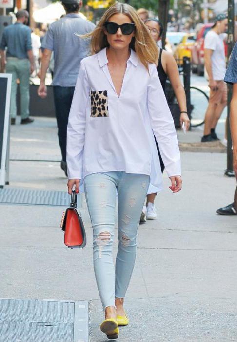 блузки под джинсы