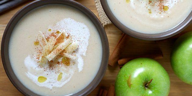 Блюда из репы: Суп-пюре из репы с яблоком
