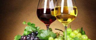 Бокал белого и красного вина