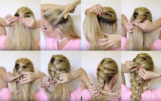 Большая объемная французская коса и этапы ее выполнения