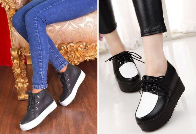 ботинки на платформе 2018