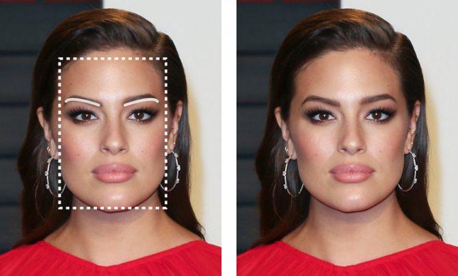 Брови для женщины с круглым лицом фото