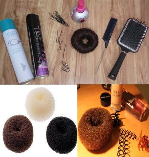 Бублик для волос фото, шпильки, расчески и невидимки