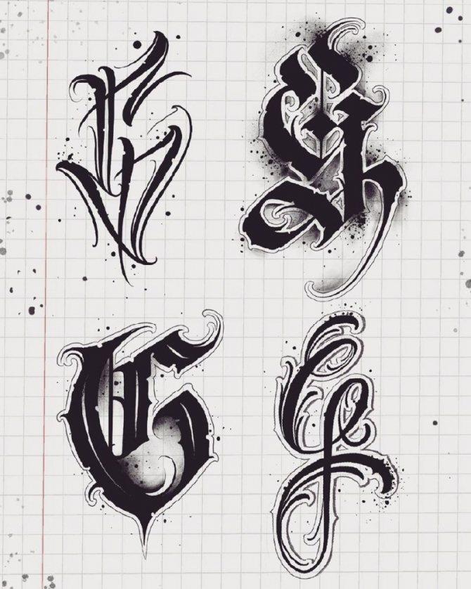 буквы для тату