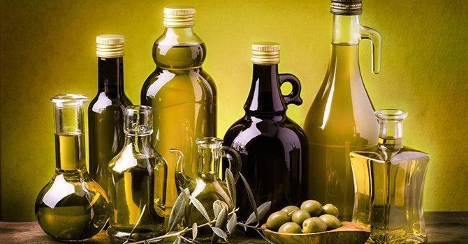 Бутылки для оливкового масла из темного стекла