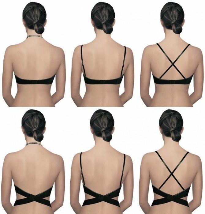 Бюстгальтер для платья с открытой спиной