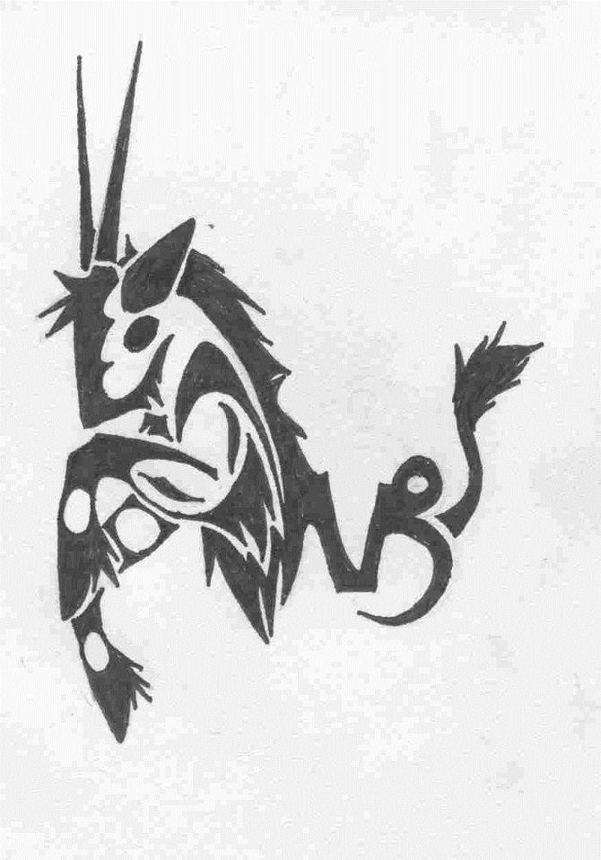 картинки тату знака козерог девочки нарисовали парте