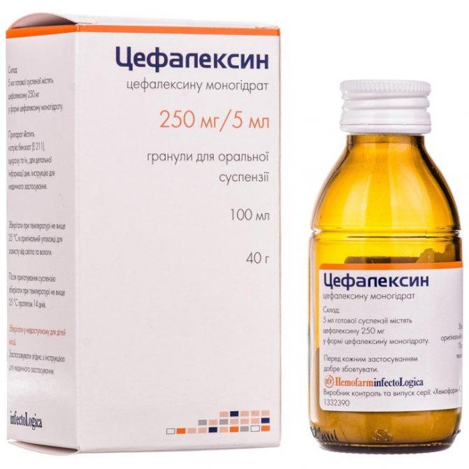 Цефалексин суспензия
