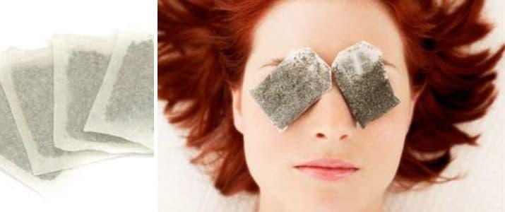 чайные пакетики под глаза