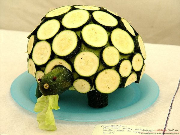 Черепаха из цуккини