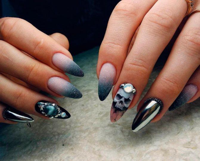 черепушка на ногте