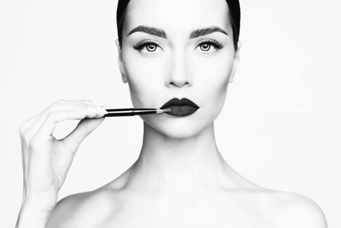 черно белый макияж