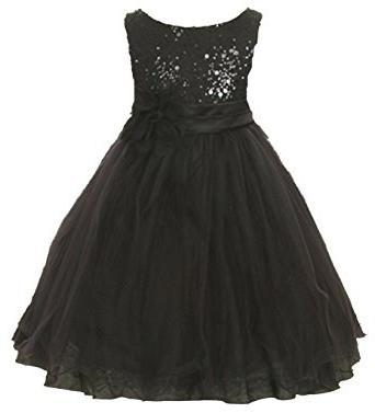 черные блестящие платья