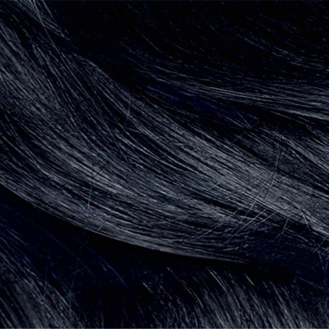 Черные с синевой волосы