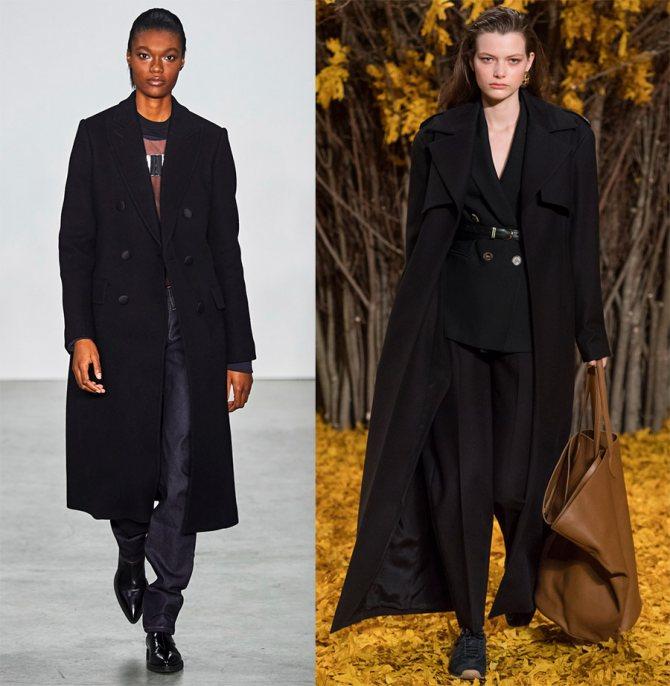 Черные женские пальто
