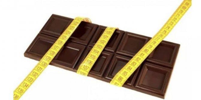 Черный шоколад при похудении